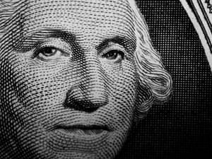 George WashingtonClose up detail of George Washington's portrait on the US One Dollar Note. bill
