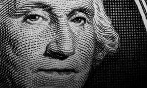 $1 bill closeup