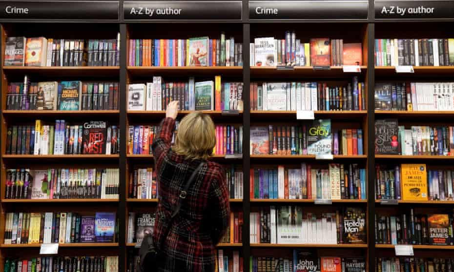 Waterstones bookshelves