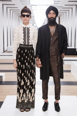 Waris Ahluwalia modelling S/S 17 collaboration with The Kooples