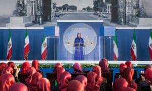 MEK leader Maryam Rajavi at a memorial ceremony in Tirana, Albania, last year.