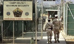 A 2006 image of the Camp Delta US military-run prison at Guantánamo Bay, Cuba.