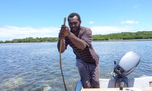 Fisherman Mosese Vesikara says the implementation of a tabu - restricting fishing from part of the fishing ground - means he catch enough for his family.