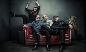PIxies (from left): Paz Lenchantin; David Lovering; Joey Santiago and Black Francis