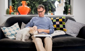 Tim Dowling at home in west London with his dog Nelly