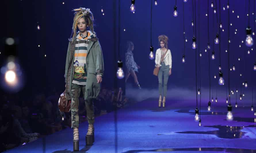 A model during the Marc Jacobs show.