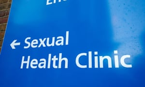 Sign for a sexual health clinic