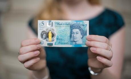 Polymer £5 notes to enter circulation today