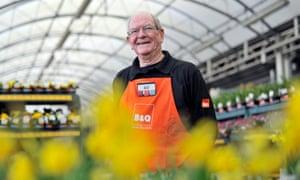Bill Macpherson aged 76 works three days a week at B&Q New Malden, London