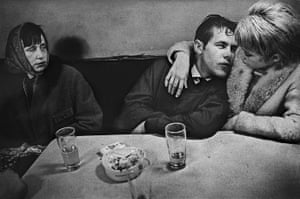 Kleinchen and Rose with Mona, Café Lehmitz, 1970.