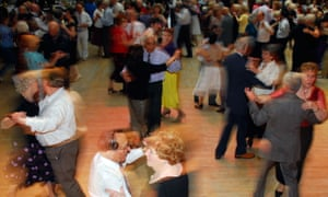 Elderly couples at a Tea Dance Hammersmith Town Hall London