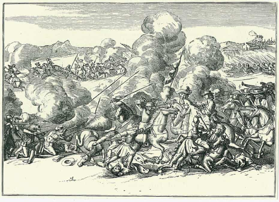 Engraving of the battle of Sedgemoor, 6 July 1685