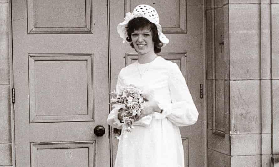 Margaret O'Brien on her wedding day in 1971
