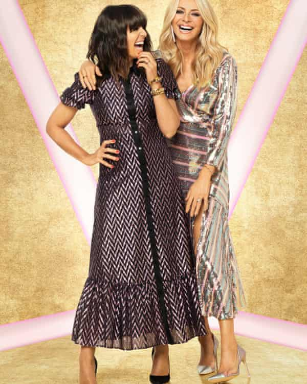 Daly's striped sequin Rixo dress (right) proved a hit