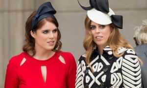 Princesses Eugenie and Beatrice attend a National Service of Thanksgiving as part of the 90th birthday celebrations for the Queen at St Paul's Cathedral in June 2016.