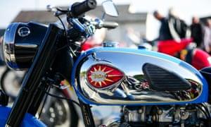 A vintage BSA motorcycle at the Saltburn Hill Climb