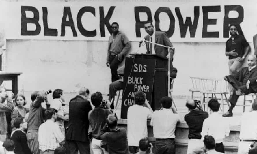 Stokely Carmichael, later known as Kwame Ture, speaking at the University of California at Berkeley.