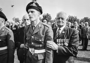 Survivors of the battle of the Somme on 2 July 1966 at a reunion in France marking 50 years since the beginning of the battle