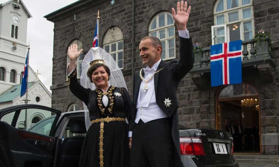 President of Iceland Guðni Jóhannesson and his wife Eliza Reid