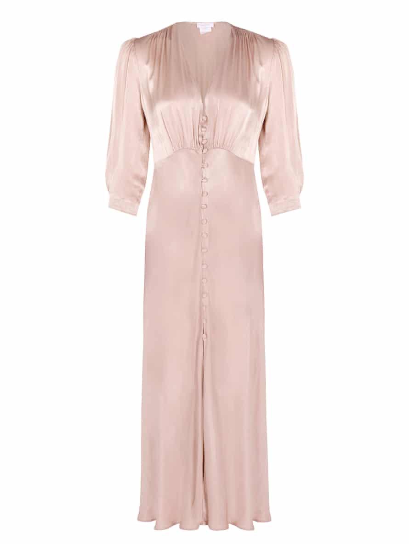 Pale pink silk