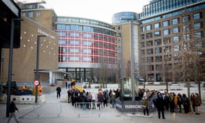 The BBC's White City buildings, London. Labour could allow licence fee-payers to elect representatives to the BBC's governing board.