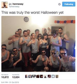 James Hennessy's worst Halloween yet