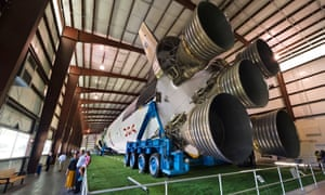 The last unused Saturn V rocket from the Apollo space program, Johnson Space Center, Houston, Texas.