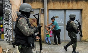 mother and child in favela