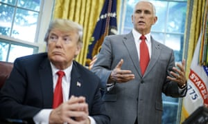 US vice-president Mike Pence says he has never discussed removing Donald Trump from the presidency.