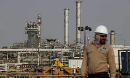 Oil refinery in Saudi Arabia