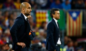 Pep Guardiola will hope for a better showing this season after his former club Barcelona proved too strong last season.