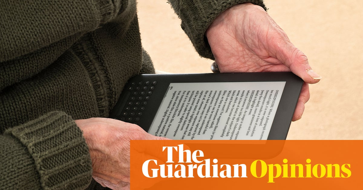 Ebook authors may be an endangered species but we can fight back man reading an ebook the society of fandeluxe Image collections