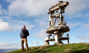 Ex-council leader Alex Watson with a sculpture on the site of the old Consett steelworks