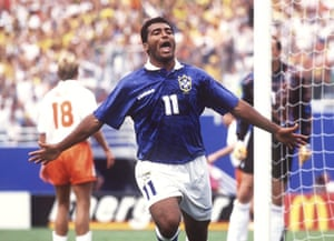 Romário celebrates after opening the scoring