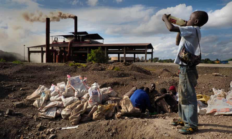 More than 6m metric tonnes of lead slag form Black Mountain, a 30-meter pile of toxic lead waste that still contains a sizable quantity of lead, copper, manganese and zinc, in Kabwe, Zambia.