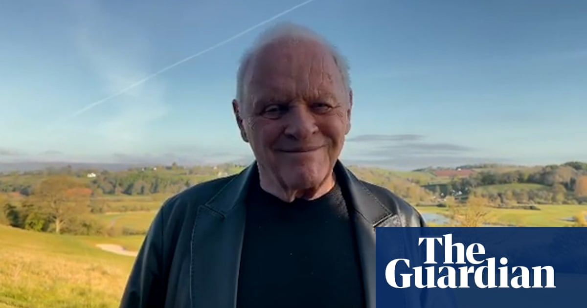 Anthony Hopkins pays tribute to Chadwick Boseman after Oscar win – video