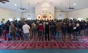 Friday prayer at the Islamic Society of Greater Youngstown .