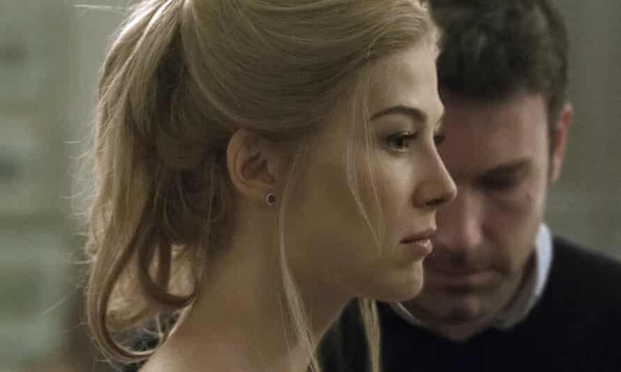 Rosamund Pike and Ben Affleck in the 2014 film of Gillian Flynn's Gone Girl.