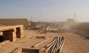 An image published by Isis purports to show jihadis bulldozing the Saint Eliane monastery in central Syria.