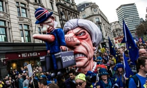 An effigy of Theresa May at the Put it to the People march in central London, 23 March