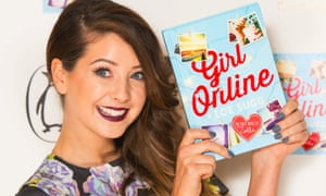 Zoe Sugg, aka Zoella, with her book Girl Online.