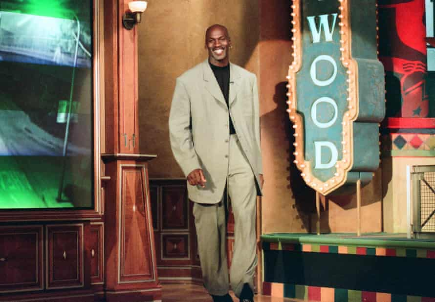 'The suits were there to make the point that Jordan was no sporting journeyman ...' Jordan on The Tonight Show with Jay Leno in 1997.