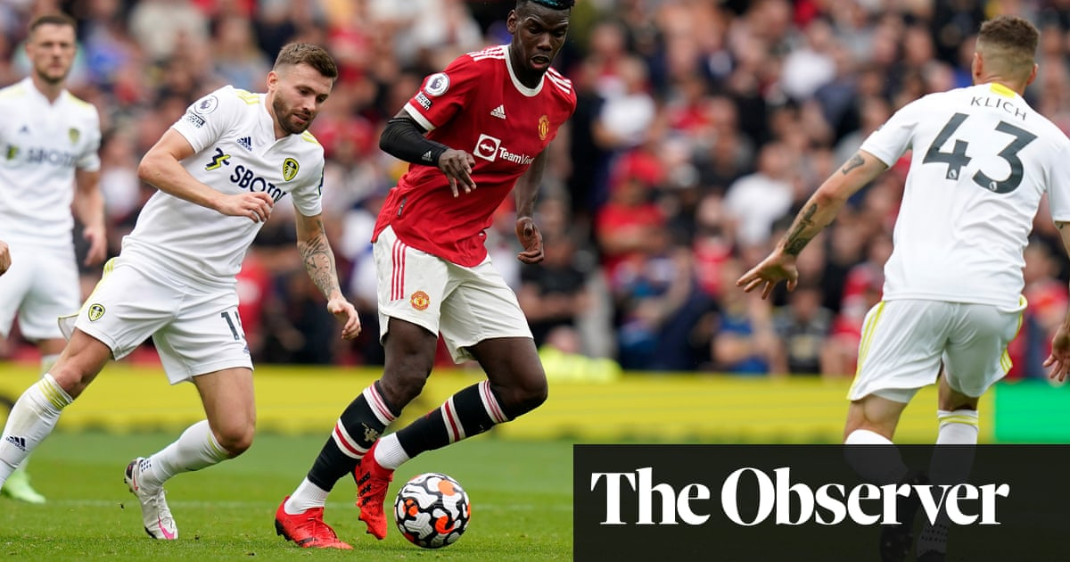Paul Pogba cuts a liberated figure in Manchester United's win over Leeds