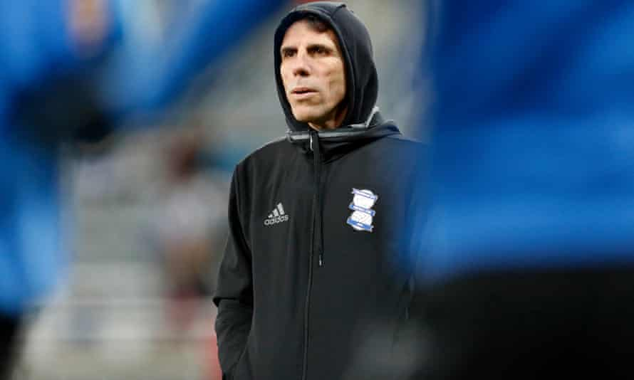 Gianfranco Zola endured a terrible spell in charge of Birmingham