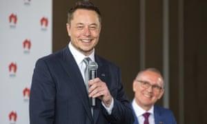 Elon Musk and Jay Weatherill