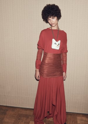 Asymmetric hems at Loewe, dress, £1,525, and necklace, £495 ( )