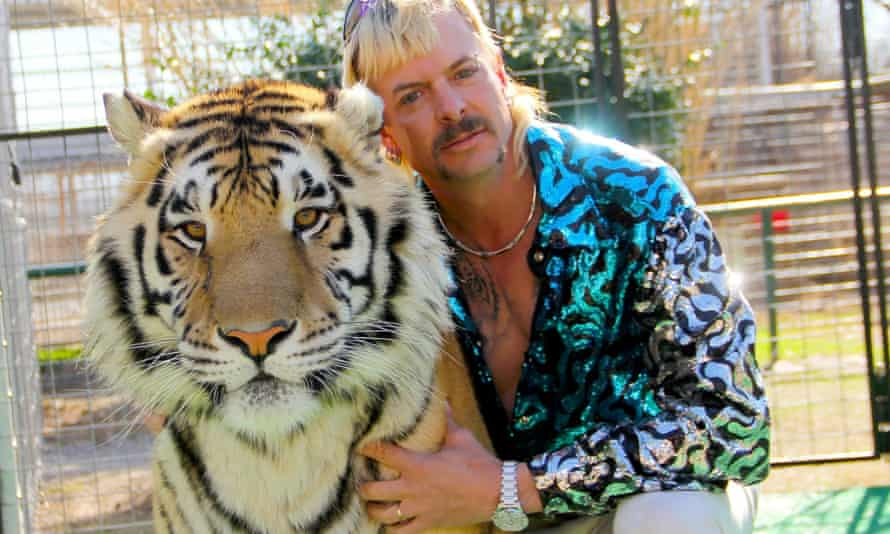 Gun-toting tiger breeder Joe Exotic in Tiger King.