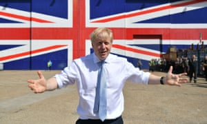 Boris Johnson campaigning for the Conservative party leadership in Portsmouth, June 2019