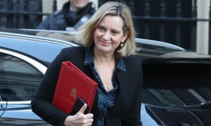 Amber Rudd, the work and pensions secretary, arriving for cabinet this morning. She is one of the cabinet ministers who has taken a lead in arguing that Theresa May should rule out a no-deal Brexit.