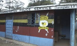 A police station in Kibera, Nairobi, Kenya